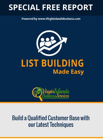 List Building for Virgin Islands Business